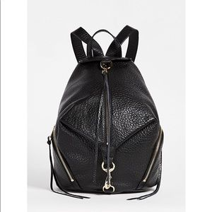 💯Rebecca Mincoff Julian Black Leather L Backpack